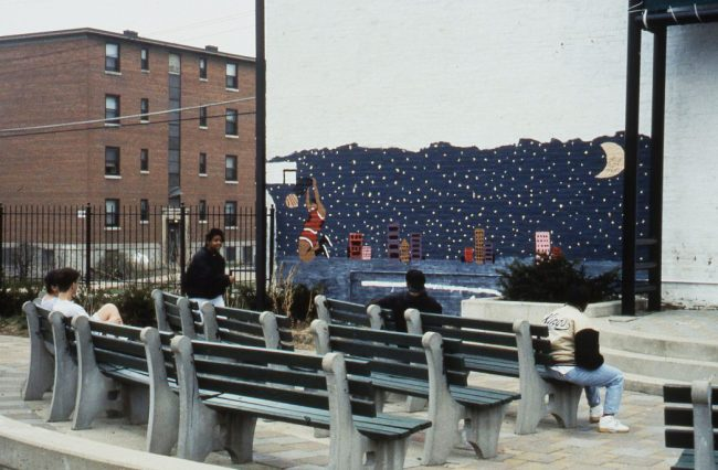 Benches and Stage with the Betts-Longworth Historic District