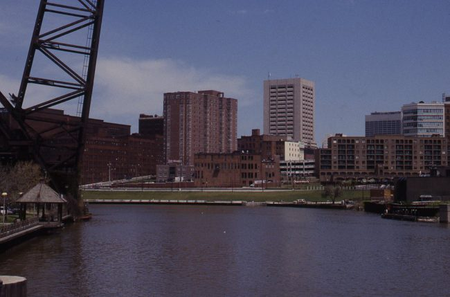 Cleveland Historic Warehouse District Across the River