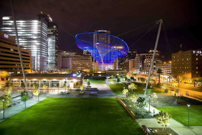 Civic Space Park by Night