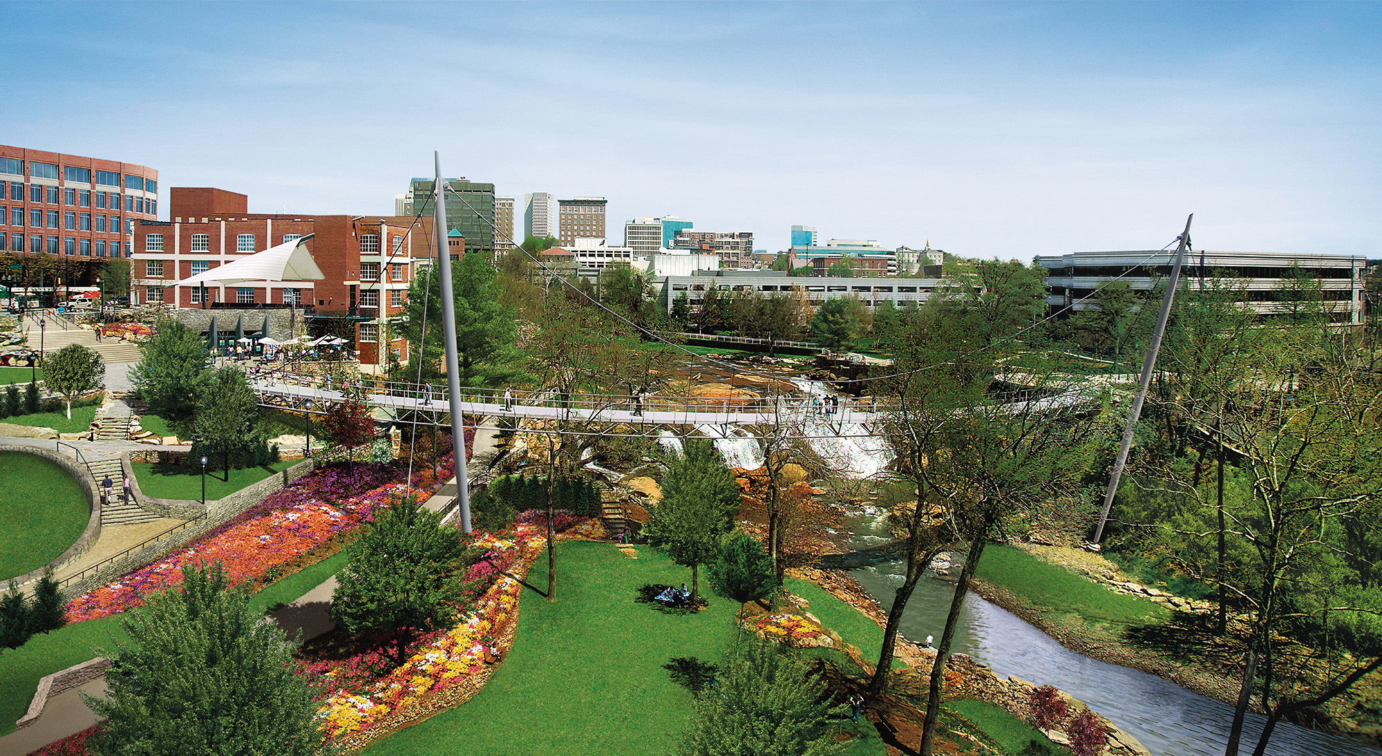 Falls park on the reedy rudy bruner award for Greenville house